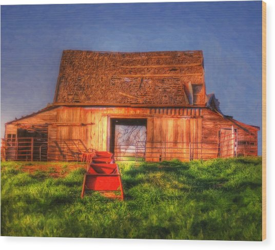 Oklahoma Barn Wood Print