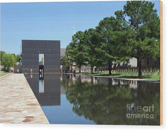 Oklahoma City National Memorial Bombing Wood Print