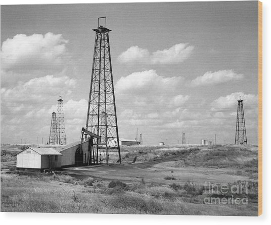 Oklahoma Crude Wood Print