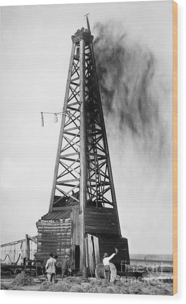 Oklahoma: Oil Well, C1922 Wood Print