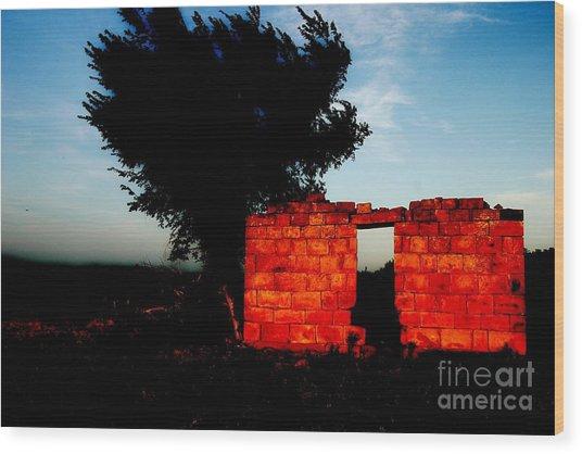 Oklahoma Ruins Wood Print