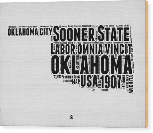 Oklahoma Word Cloud 2 Wood Print