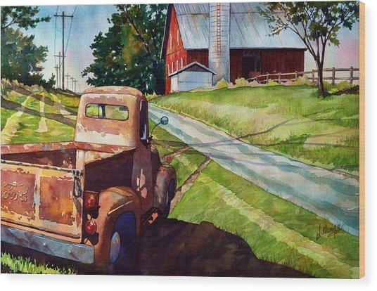 Ol '54 Wood Print