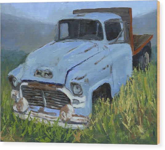 Ol' Blue Wood Print by David King