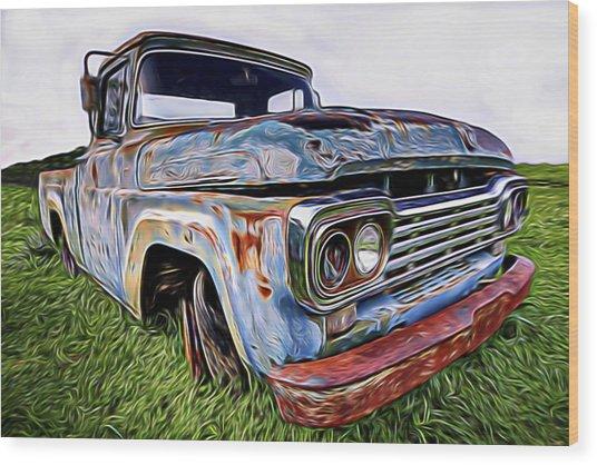 Ol' Blue Wood Print