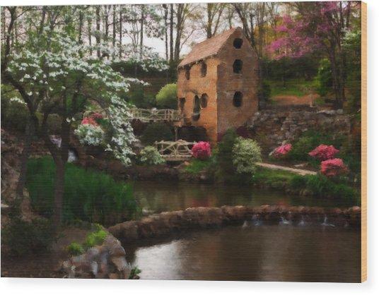 Ol' Water Mill Wood Print
