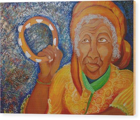 Ol Woman Wood Print