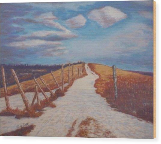 Olands Farm Wood Print