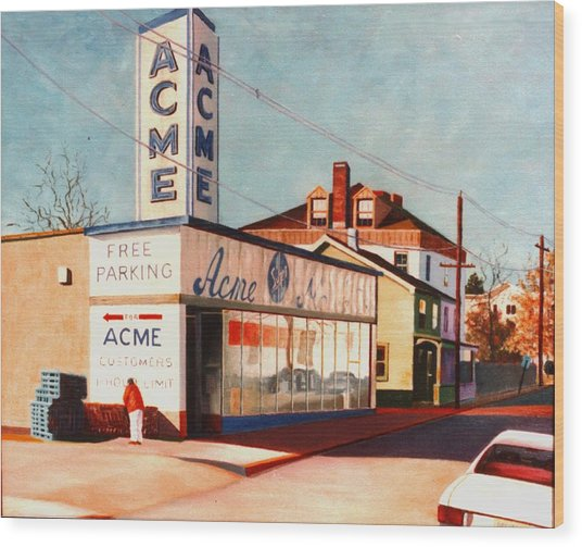 Old Acme Lambertville Nj Wood Print by Robert Henne