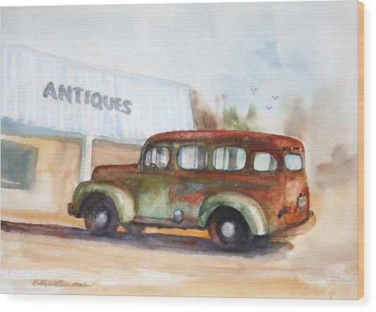 Old And Rusty Wood Print by Bobby Walters