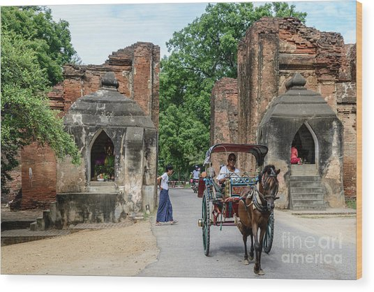 Old Bagan Wood Print