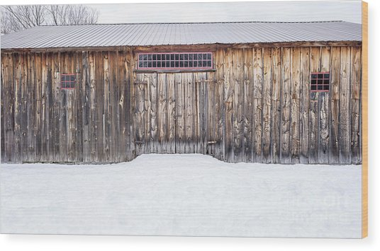 Wood Print featuring the photograph Old Barn Musterfield Farm by Edward Fielding