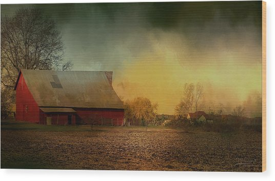 Old Barn With Charm Wood Print