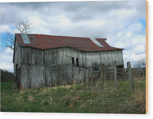 Old Barn Xiii Wood Print