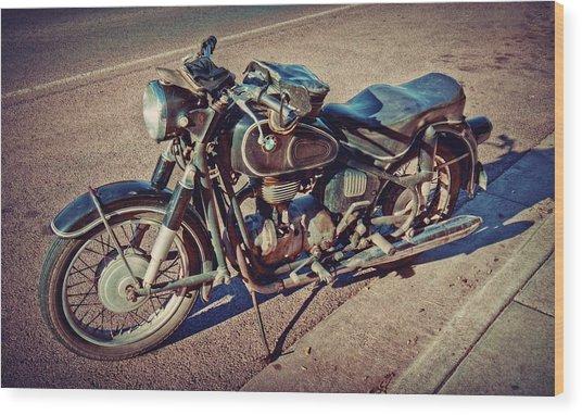Old Beamer Motorcycle Wood Print