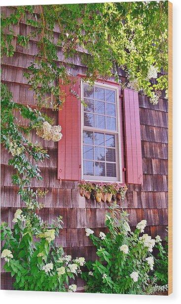 Old Bethel Church Window Wood Print