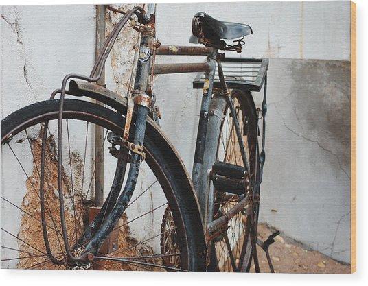 Old Bike II Wood Print