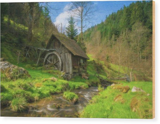 Old Black Forest Mill Wood Print