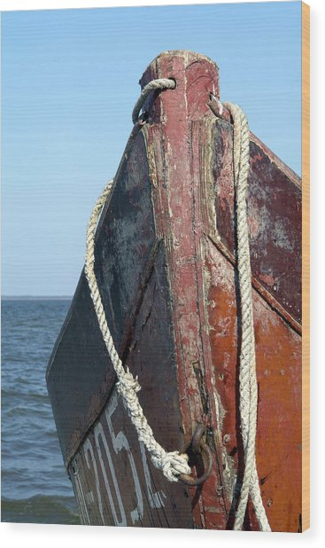 Old Boat Wood Print by Stanislovas Kairys