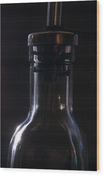 Old Bottle Wood Print