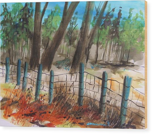 Old Boundary Wood Print by John Williams