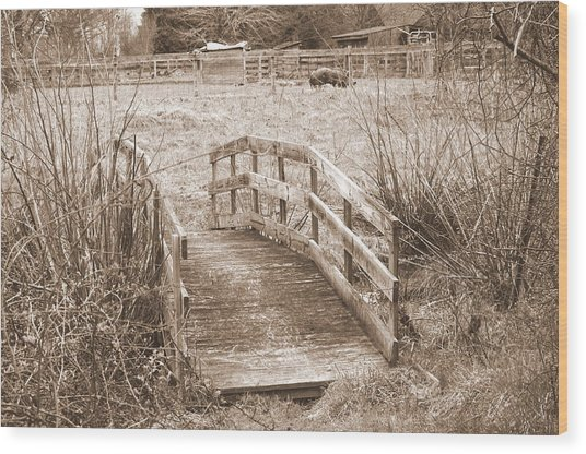 Old Bridge Wood Print