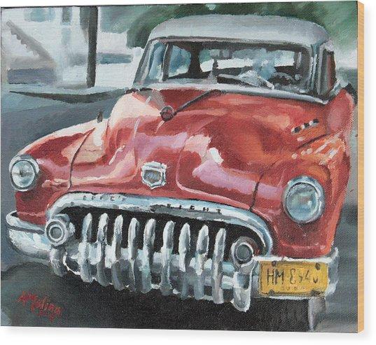 Old Buick Wood Print by Antonio Molina