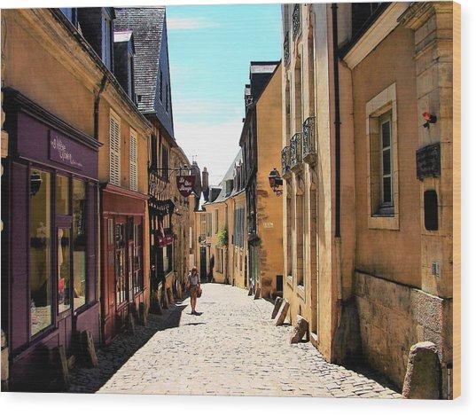 Old Buildings In France Wood Print