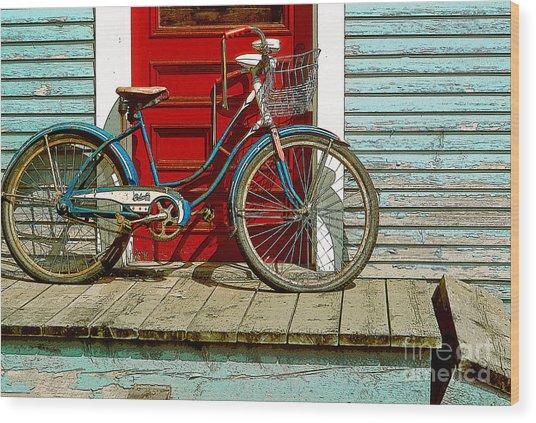 Old Bicycle. Warren, Vermont Wood Print