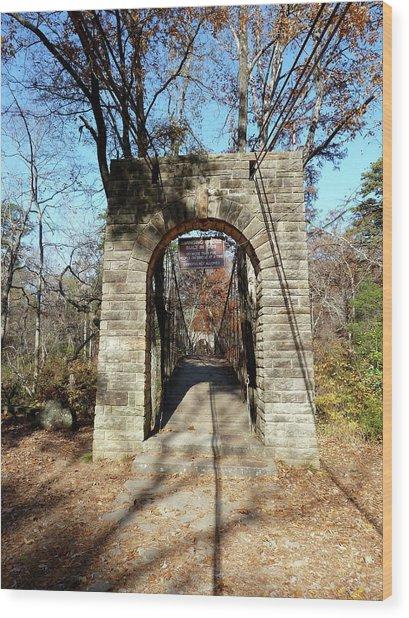 Old Ccc Swinging Bridge Wood Print