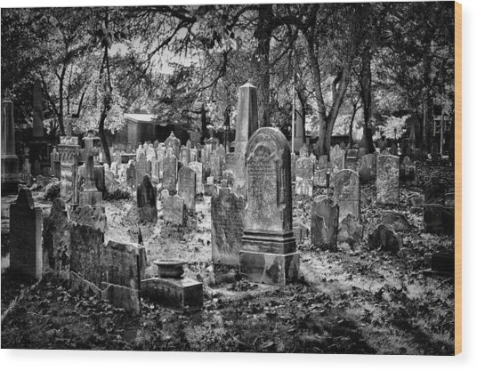 Old Cemetery In Philadelphia 1 Wood Print
