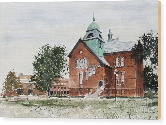 Oklahoma State University Old Central Wood Print