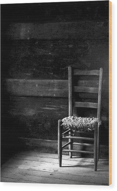 Old Chair Wood Print