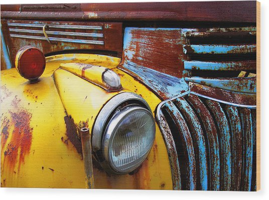 Old Chev Truck On Hwy 69 Wood Print