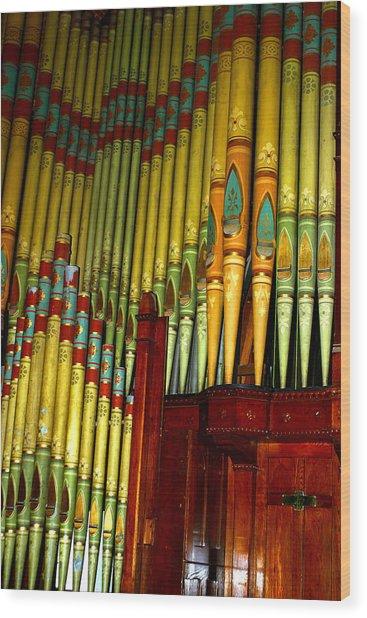 Old Church Organ Wood Print