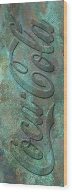Old Coca Cola Sign Wood Print