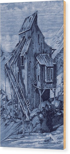 Old Colorado Mine Wood Print by Donn Kay