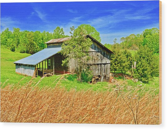 Old Country Barn Wood Print