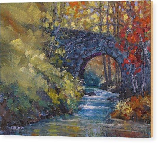 Old County Farm Bridge Wood Print