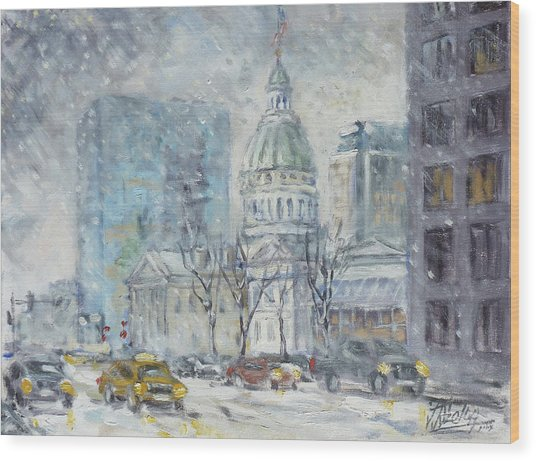 Old Courthouse From N 4th St. St.louis Wood Print