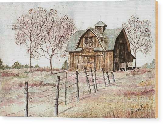 Old Crawford Colorado Barn Wood Print