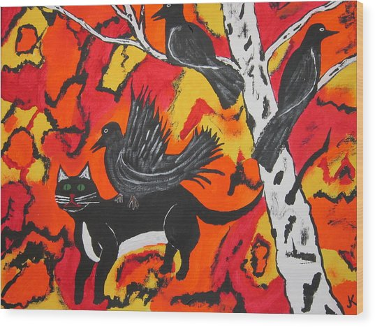 Old Crow Rodeo Wood Print