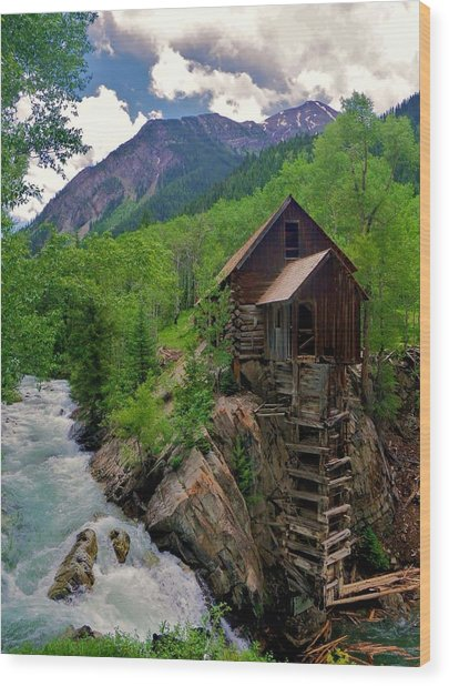 Old Crystal Mill Wood Print