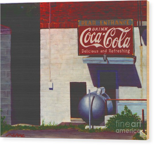 Wood Print featuring the painting Old Deli by Robert Henne