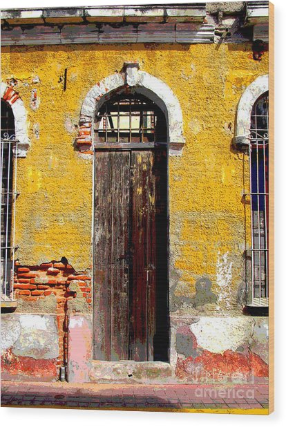 Old Door 2 By Darian Day Wood Print by Mexicolors Art Photography