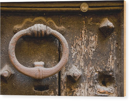 Old Door Rome Italy Wood Print by Xavier Cardell