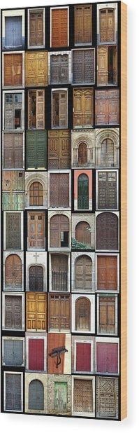 Old Doors Wood Print by Frank Tschakert