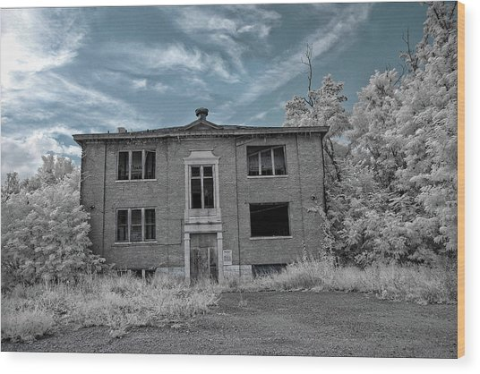 Old Edmonton High School Ir 2 Wood Print