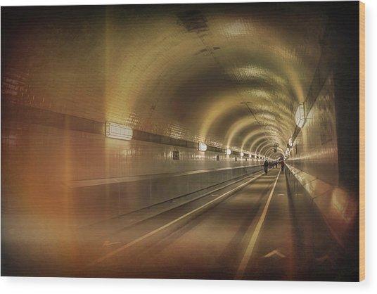 Old Elbe Tunnel Hamburg  Wood Print