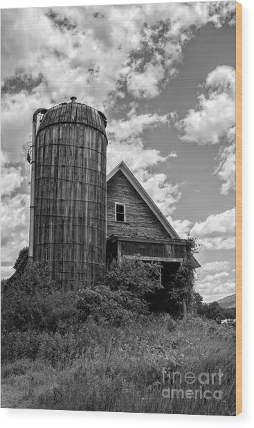 Old Ely Vermont Barn Wood Print